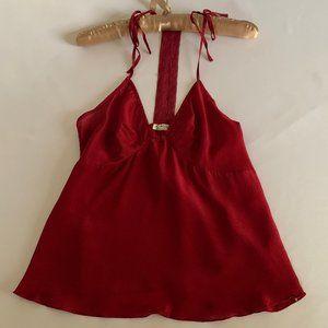 FREE PEOPLE Raspberry Silk Camisole NWT XS
